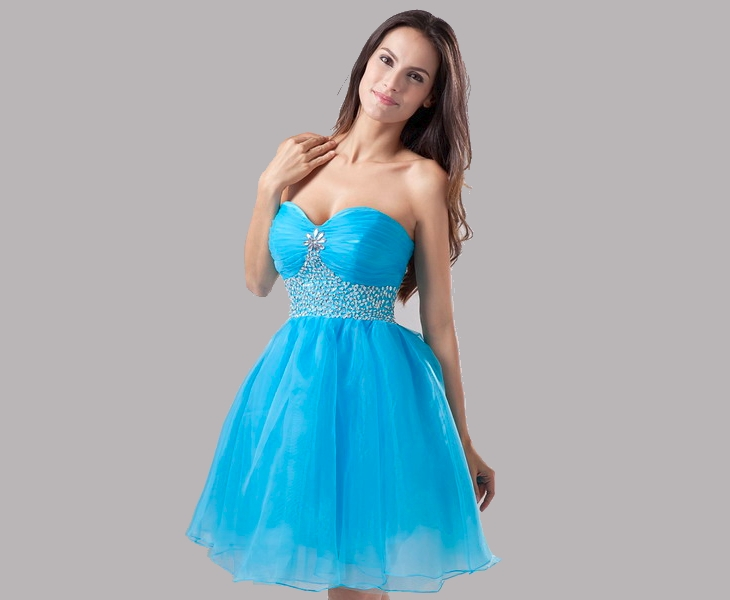 short semi formal prom dress