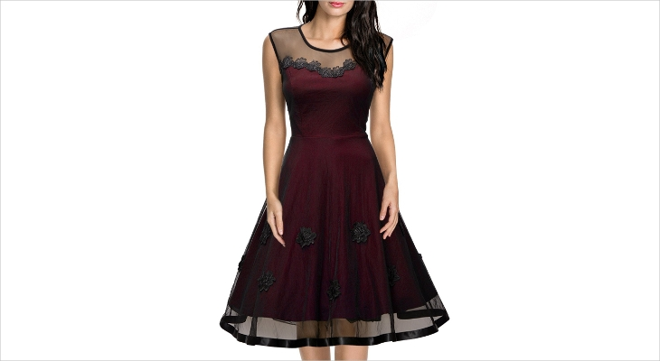 short lace casual prom dress