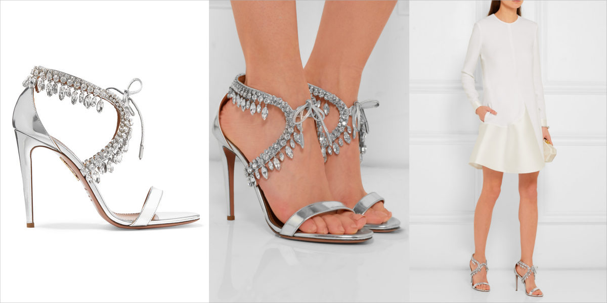 aquazzura-metallic-leather-sandals