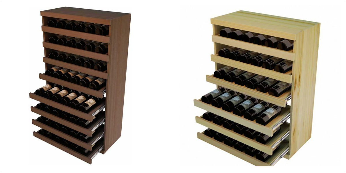 pull out wine bottle cradle vintner series