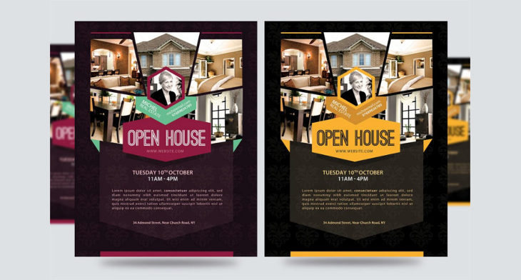 Open House Flyer Templates  Printable Psd Ai Vector Eps