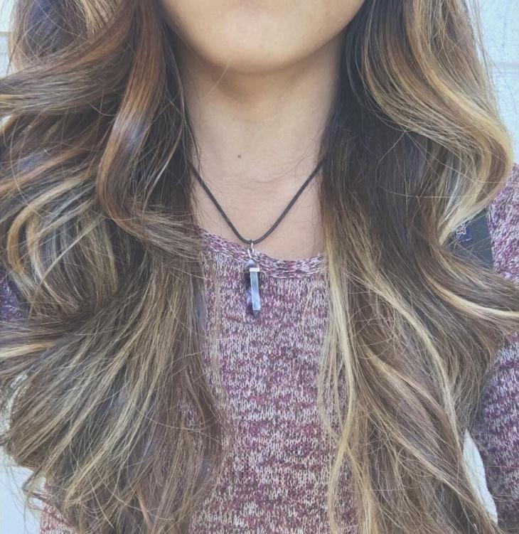 crystal pendant choker necklace