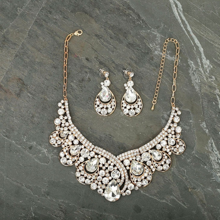 crystal choker wedding necklace1