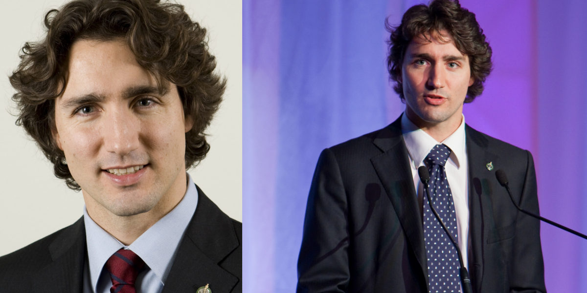 Justin Trudeau's Side Parted Curls