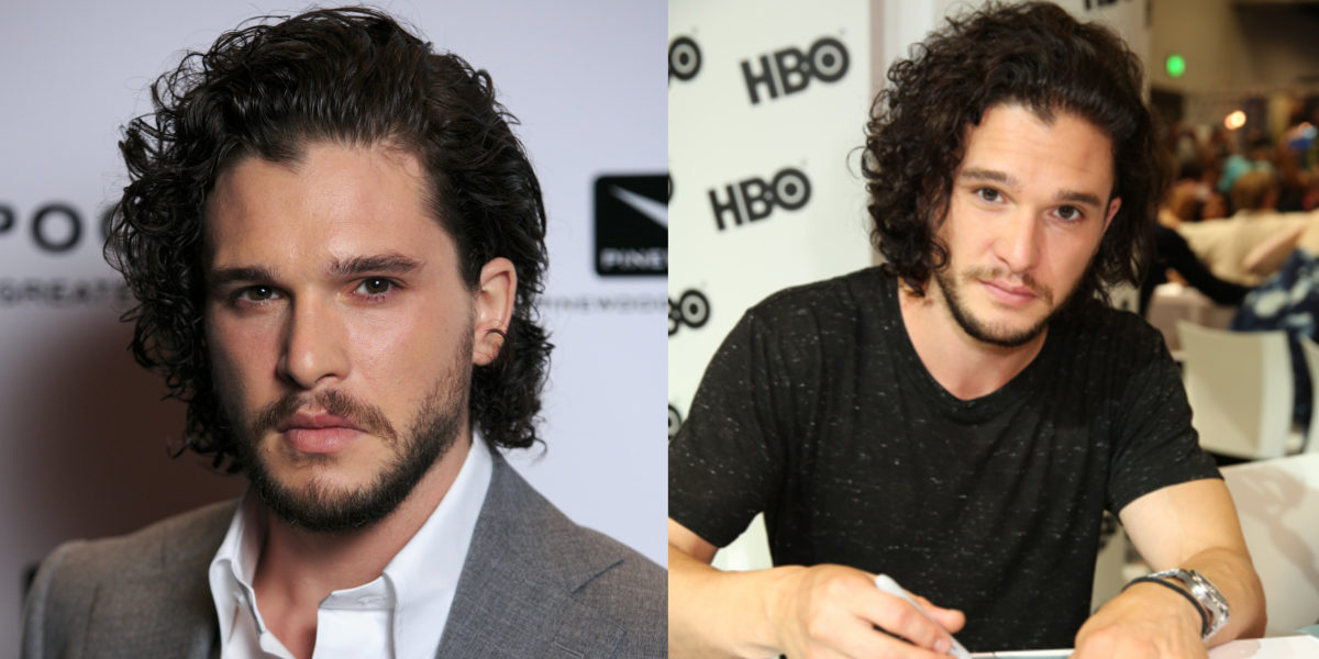 Kit Harington's Medium Length Curly Hair
