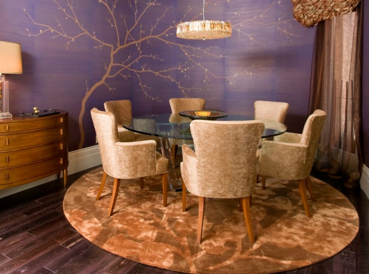 contemporary round dining room furniture