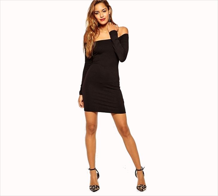 long sleeve sheath cocktail dress1