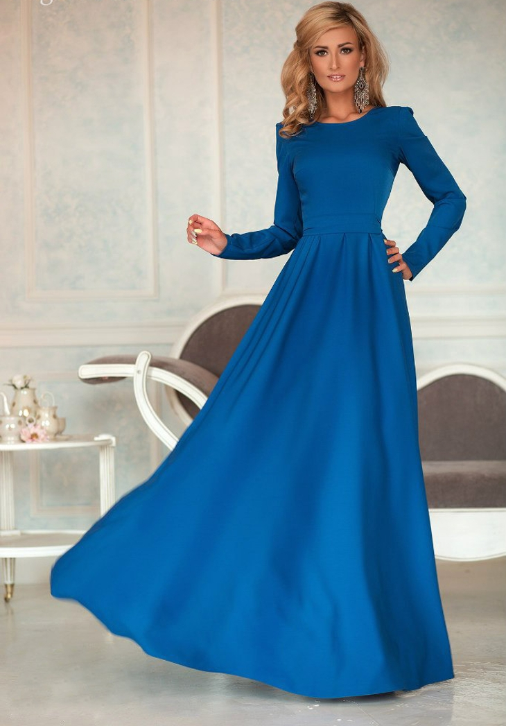 long sleeve sheath prom dress
