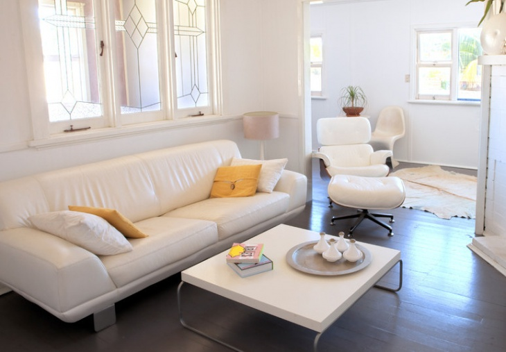 contemporary white leather furniture