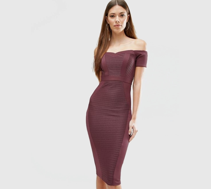 midi sheath cocktail dress