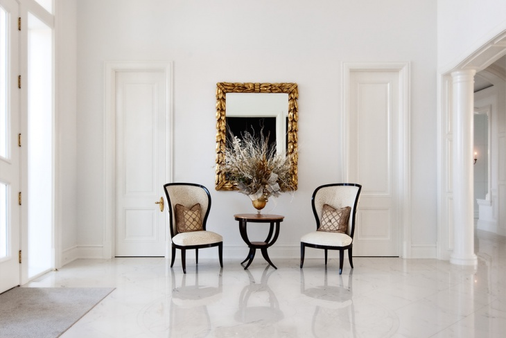contemporary entryway hall furniture