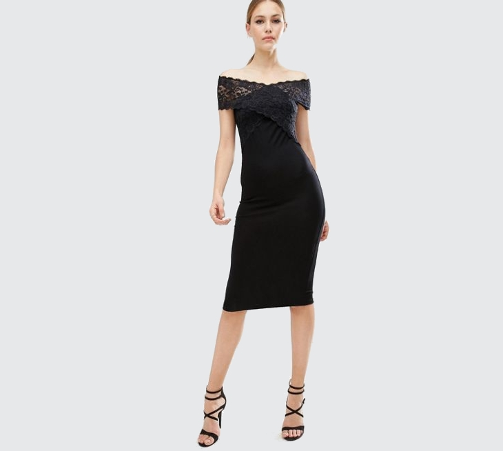 midi lace sheath dress