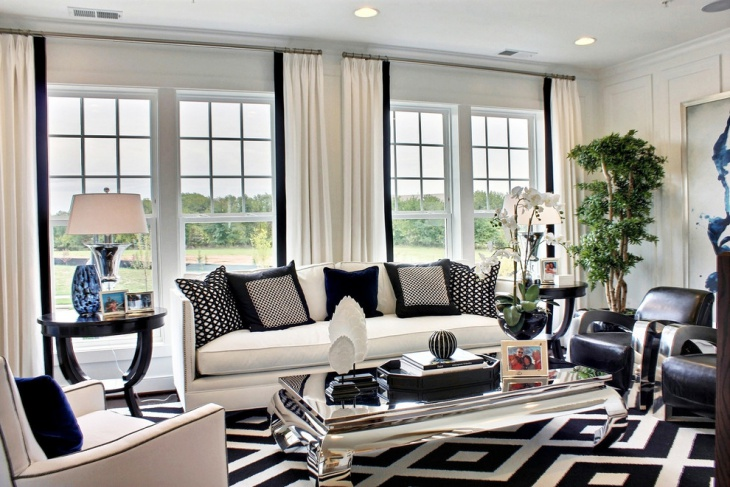 black and white contemporary furniture