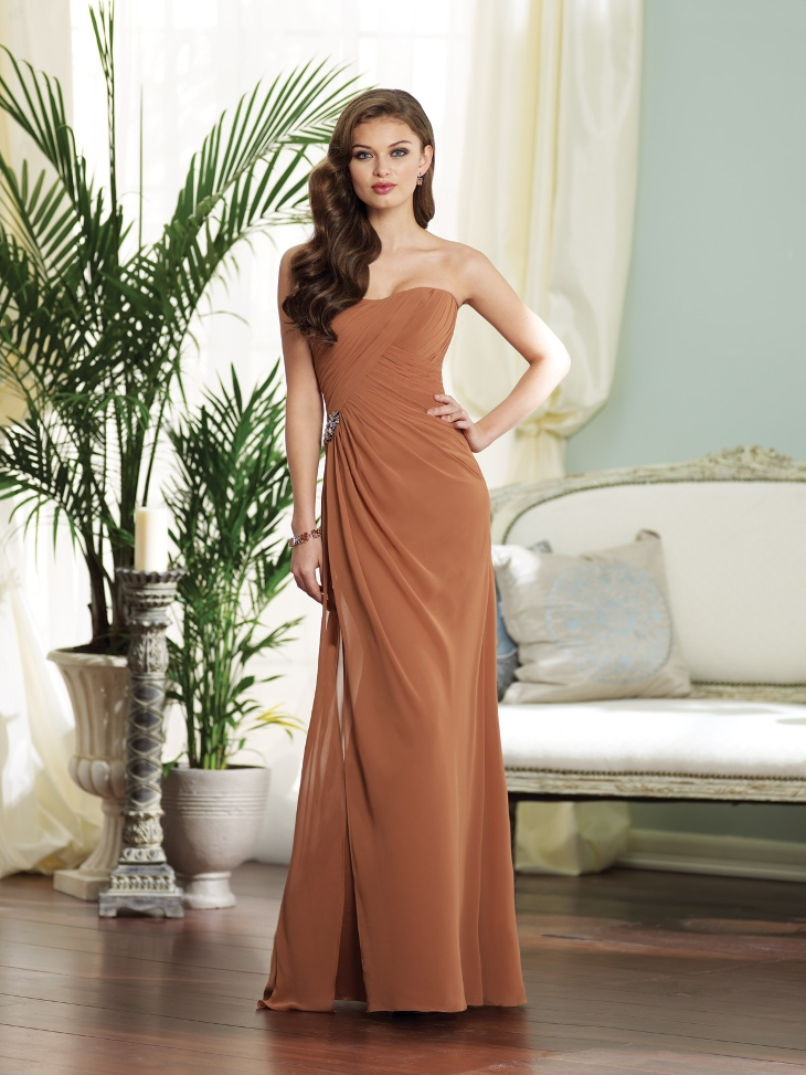 strapless sheath chiffon dress1