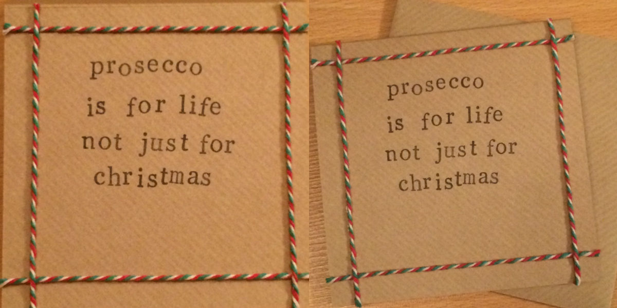 handmade brown paper christmas card
