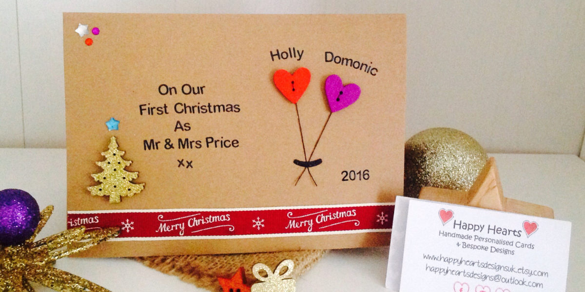 personalised handmade christmas card