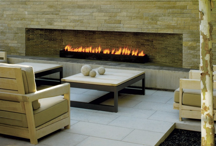modern outdoor patio fire pit