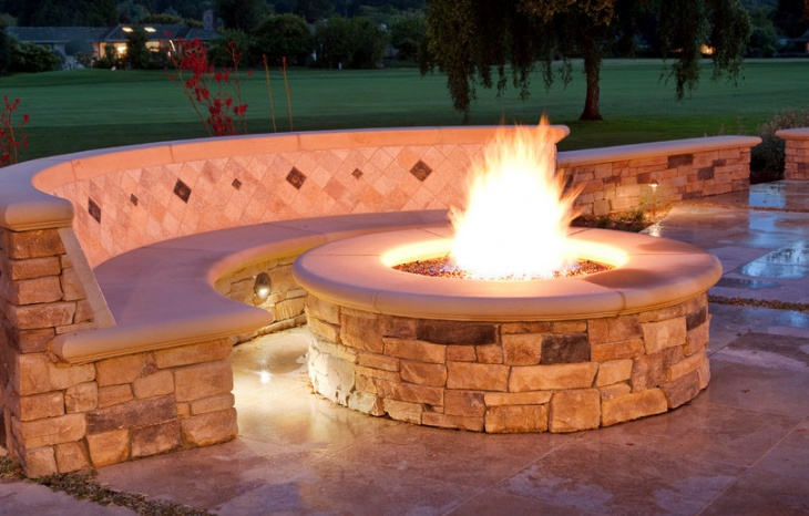 outdoor gas stone fire pit