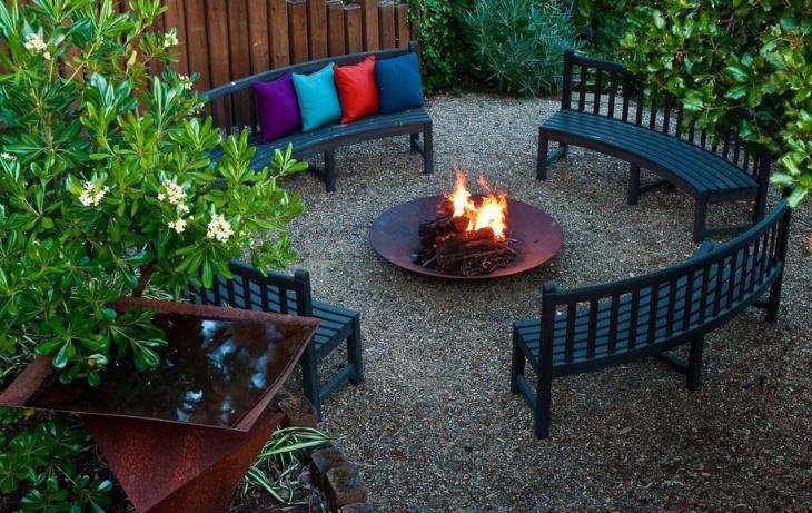 diy outdoor metal fire pit