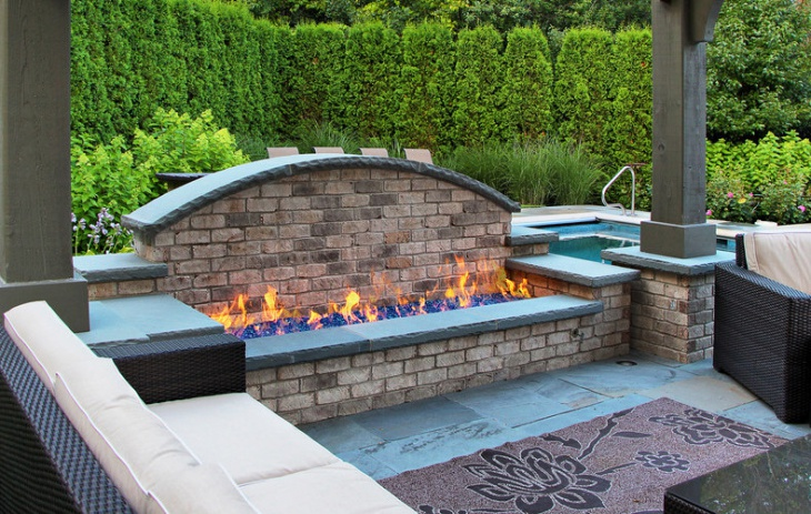 fire glass outdoor fire pit