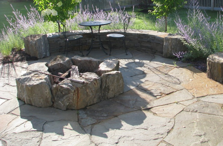21 outdoor fire pit designs ideas design trends for Rustic outdoor fireplace ideas