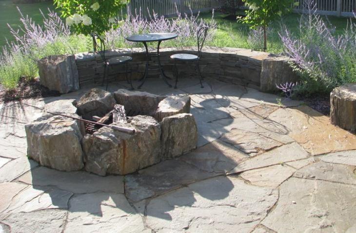diy rustic outdoor fire pit