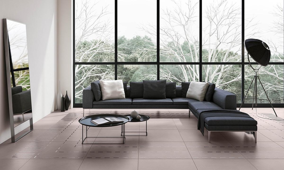 black living room floor lamp
