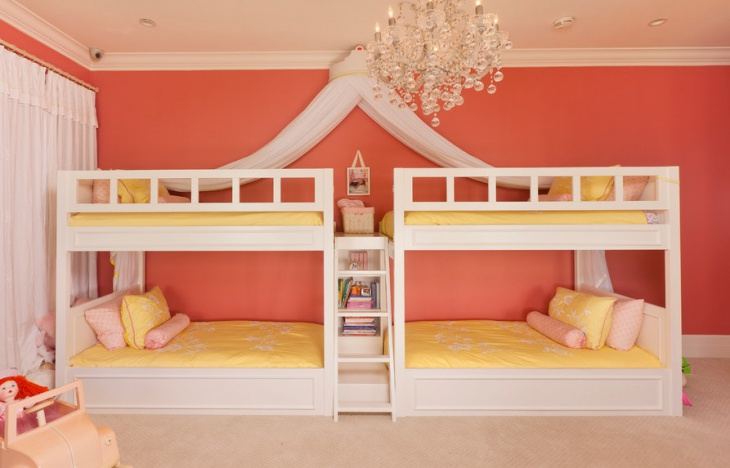 white bunk bed design for kids