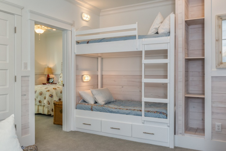 kids bunk bed storage design