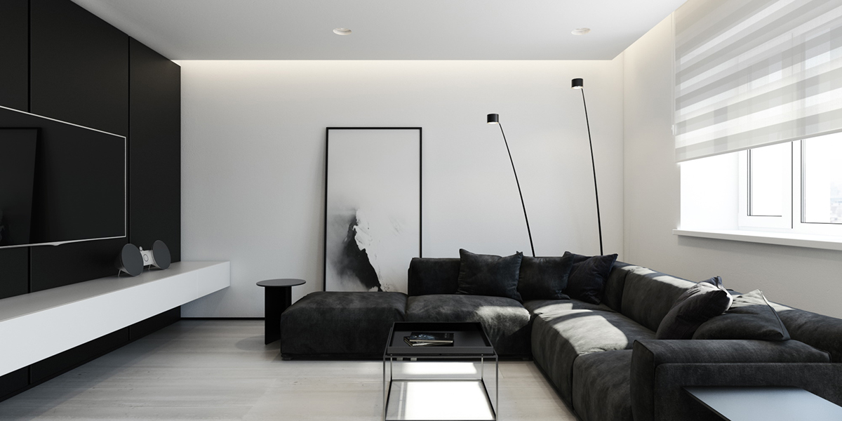 modern sectional floor lamp