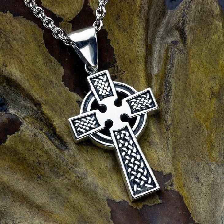 womens celtic cross necklace design
