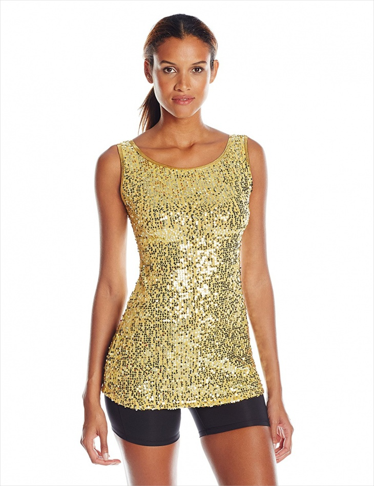 gold sequin tunic dress design