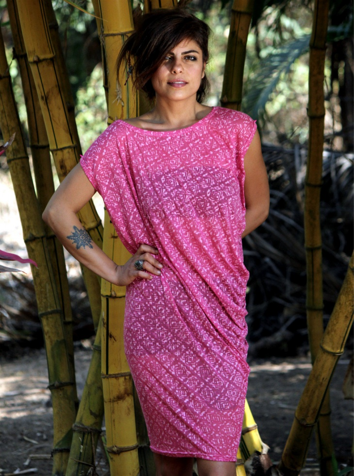 beach tunic pink dress