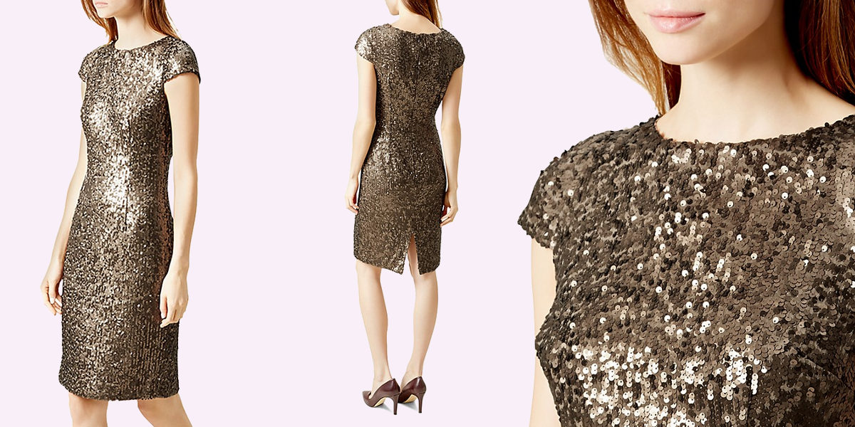 hobbs london sequin sheath dress