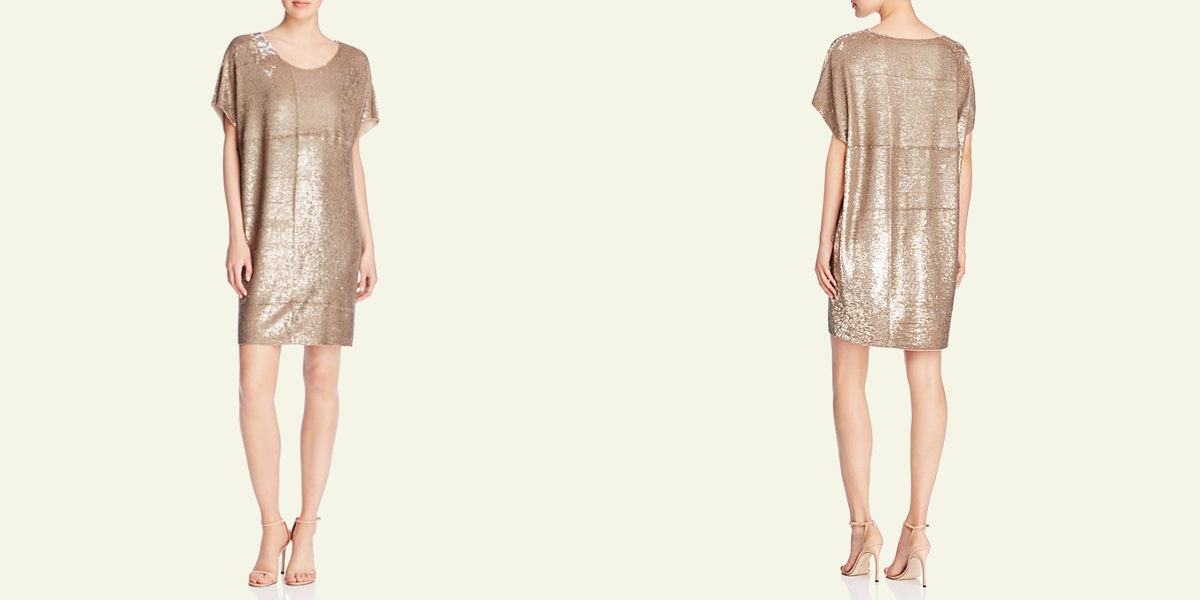zelia metallic dress