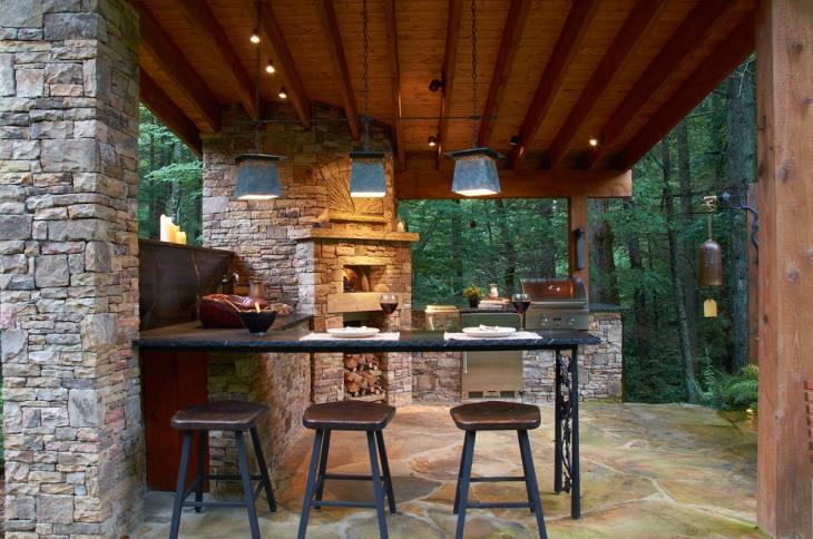 rustic outdoor ceiling light