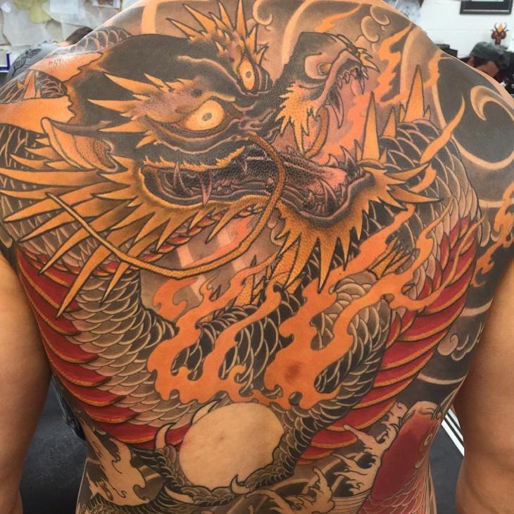 full back dragon tattoo design