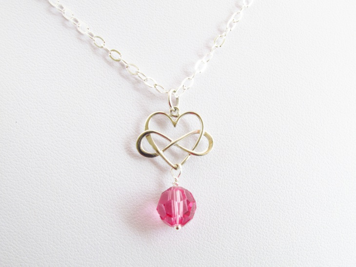 infinity love heart necklace