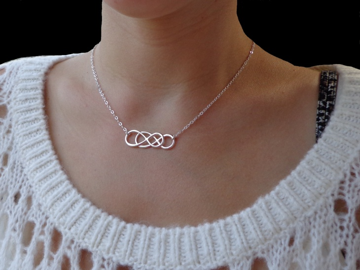 double chain infinity necklace
