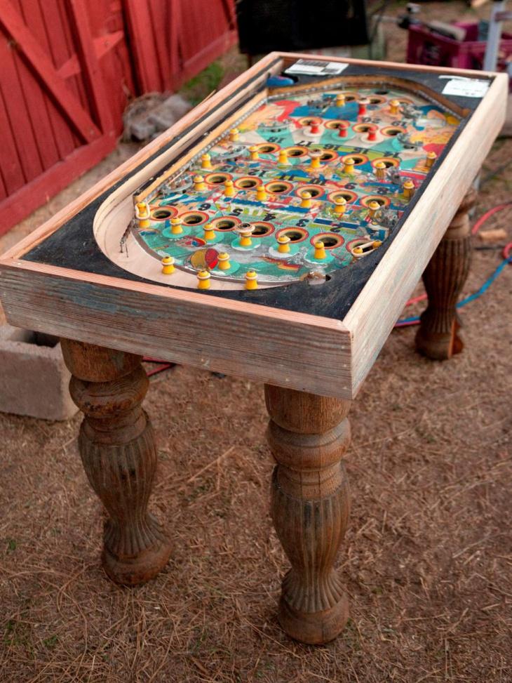 pachinko game repurposed table