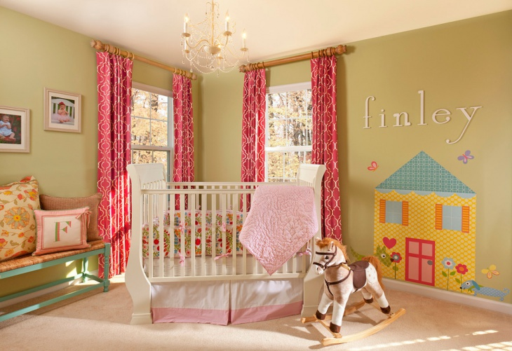 baby room curtains design