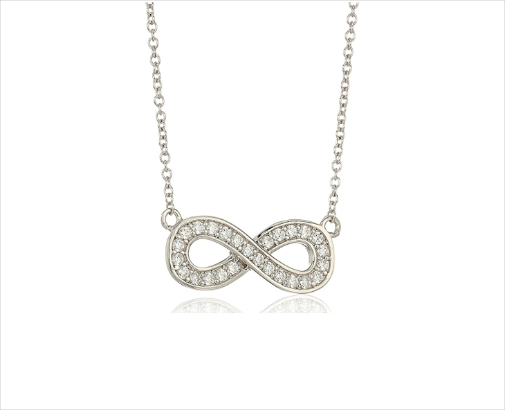 platinum diamond infinity necklace design