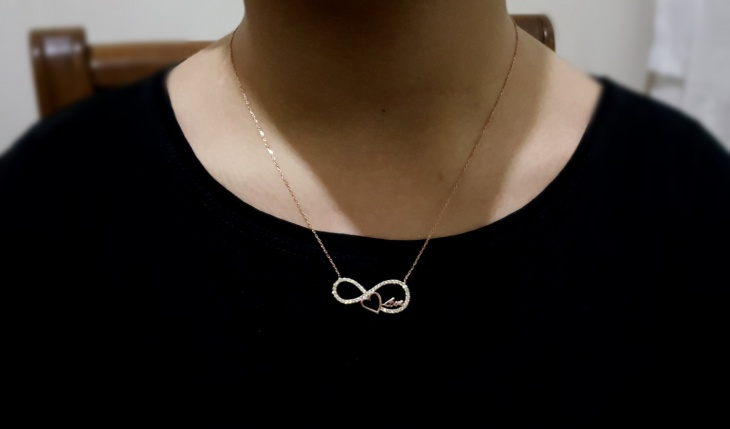 gold infinity love necklaces