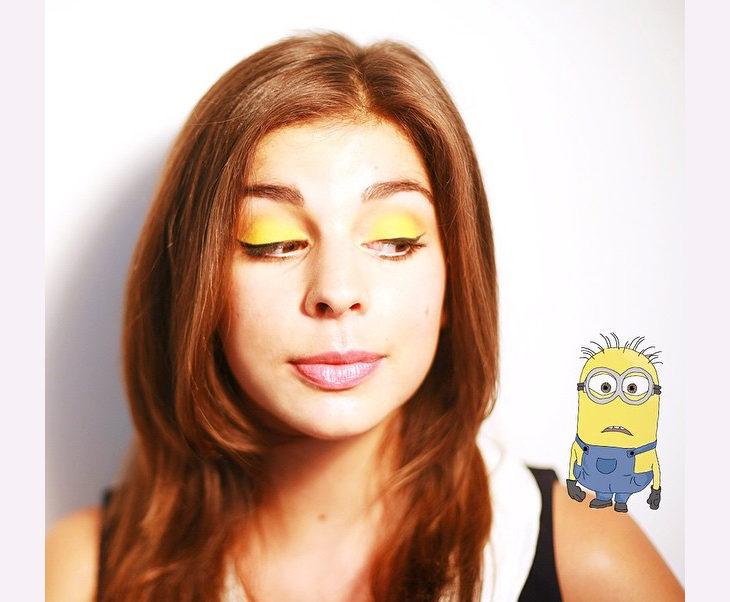 minion inspired eyeshadow