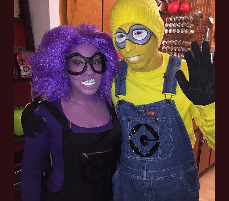 yellow and purple minion makeover
