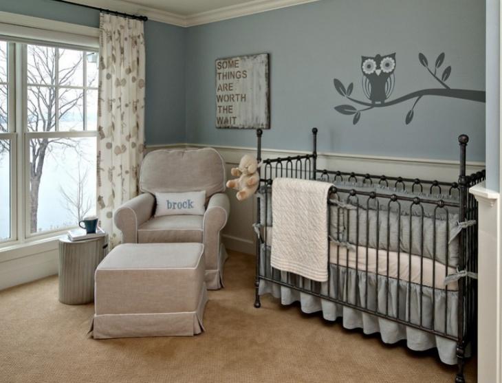 baby room wall mural idea
