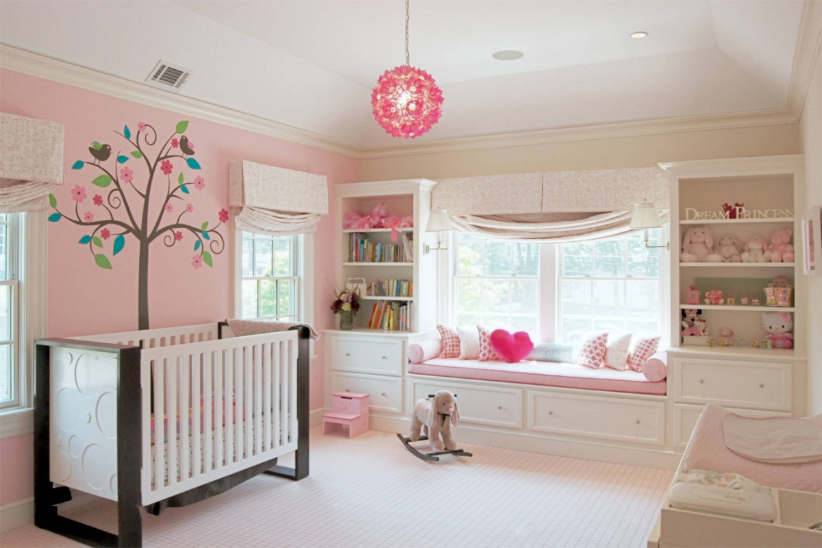 16 baby room designs ideas design trends premium psd for Baby pink bedroom ideas
