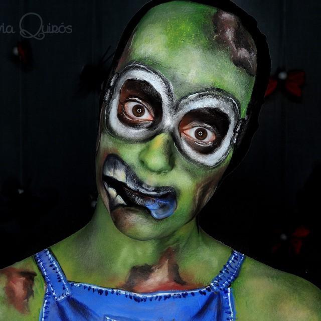 minion halloween makeup look