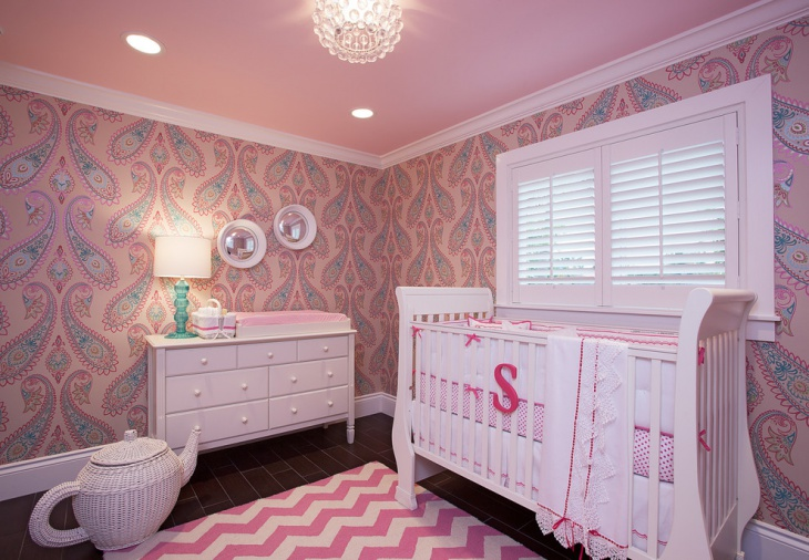 floral baby room wall art