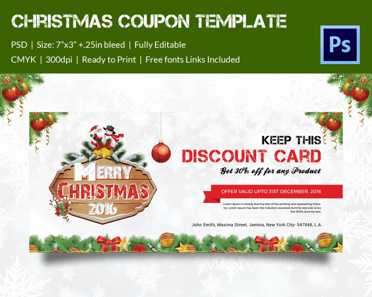 christmas broucher 2016 coupon